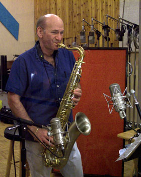Dave Liebman recording BLUES ALL WAYS